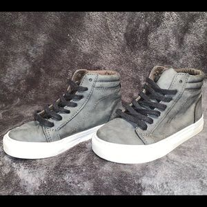Gray Leather Sneaker